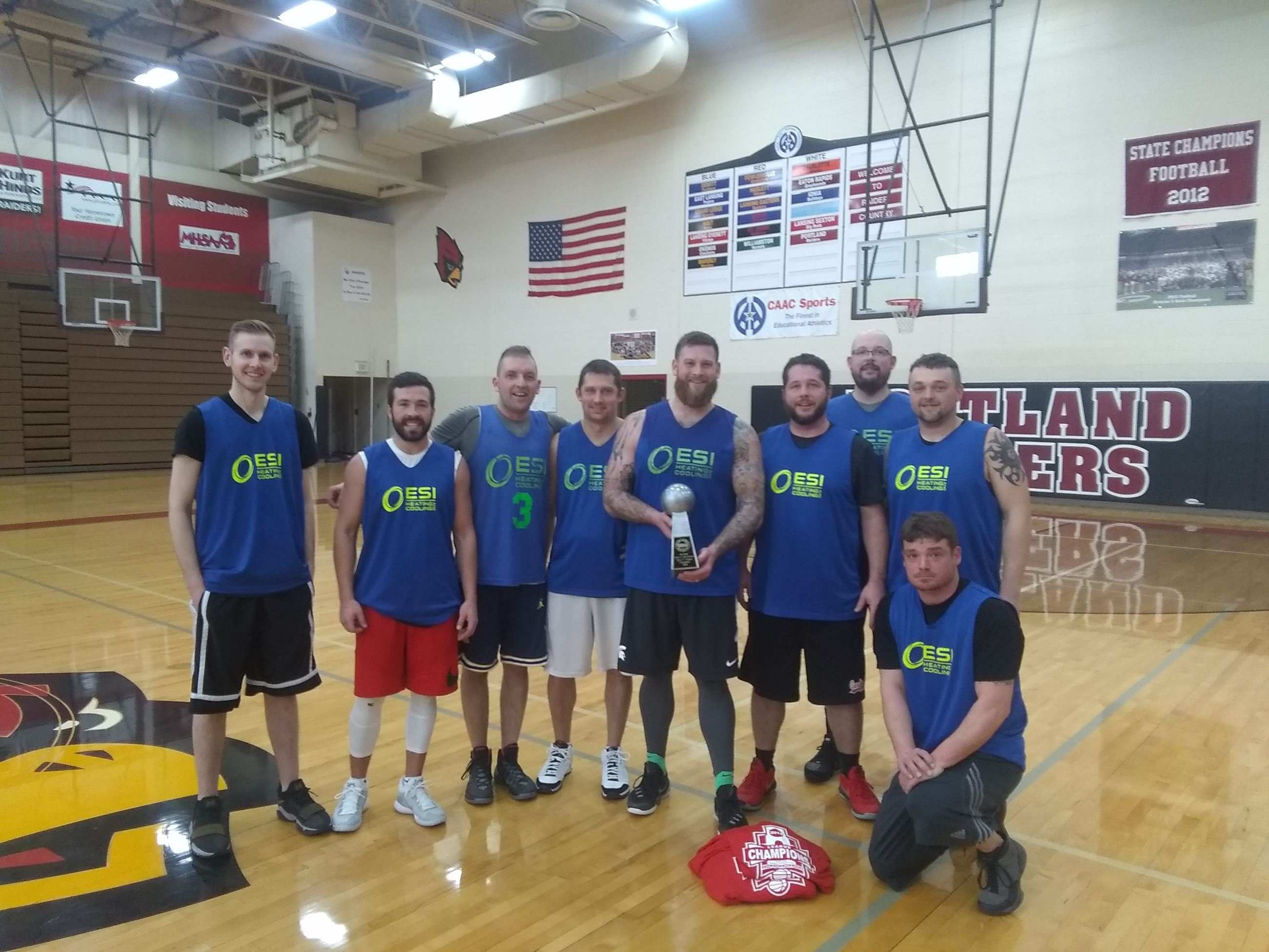2019 Men's C League Champs - ESI Heating & Cooling